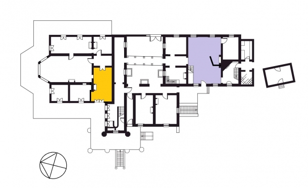 VH-house-plan-ground-floor-showing-the-dining-room-in-yellow-and-kitchen-in-purple-618x378